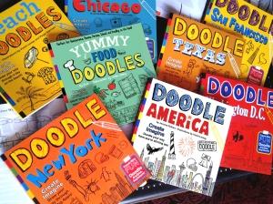 8 doodle books