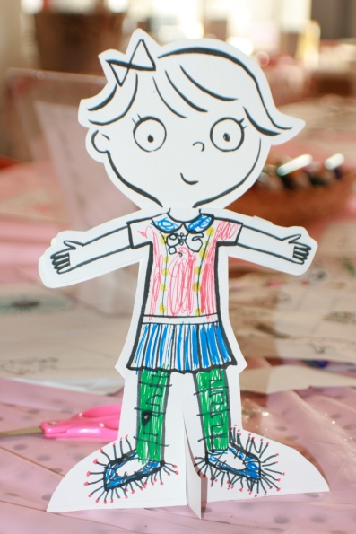 paper doll in color
