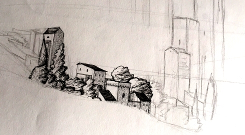 hillside sketch