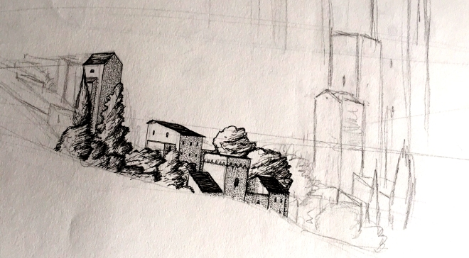 hillside sketch