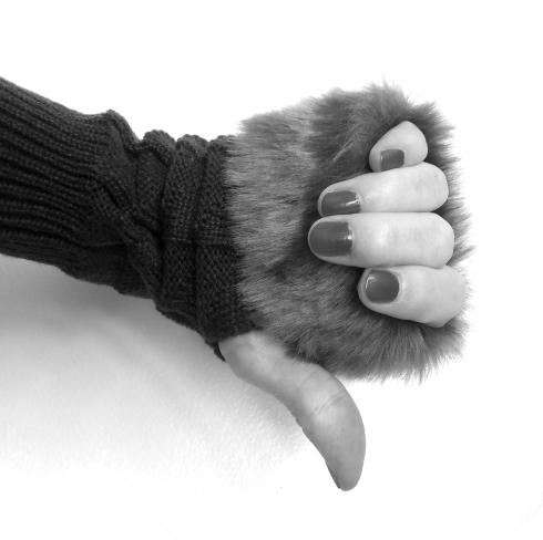 fur folded