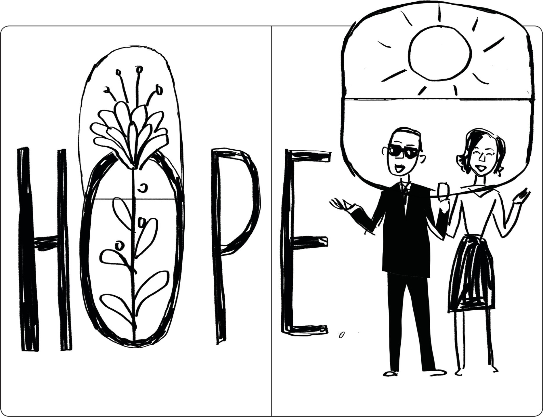 early Obamas sketch_HOPE