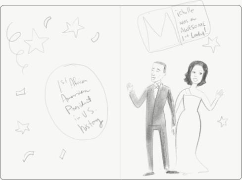 first Obama sketch