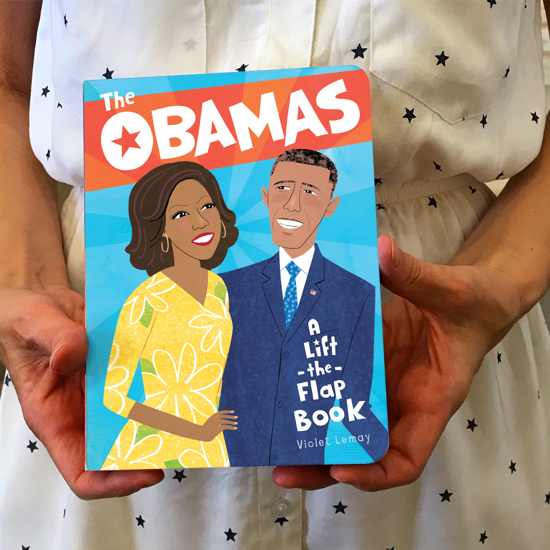 obama cover w white dress